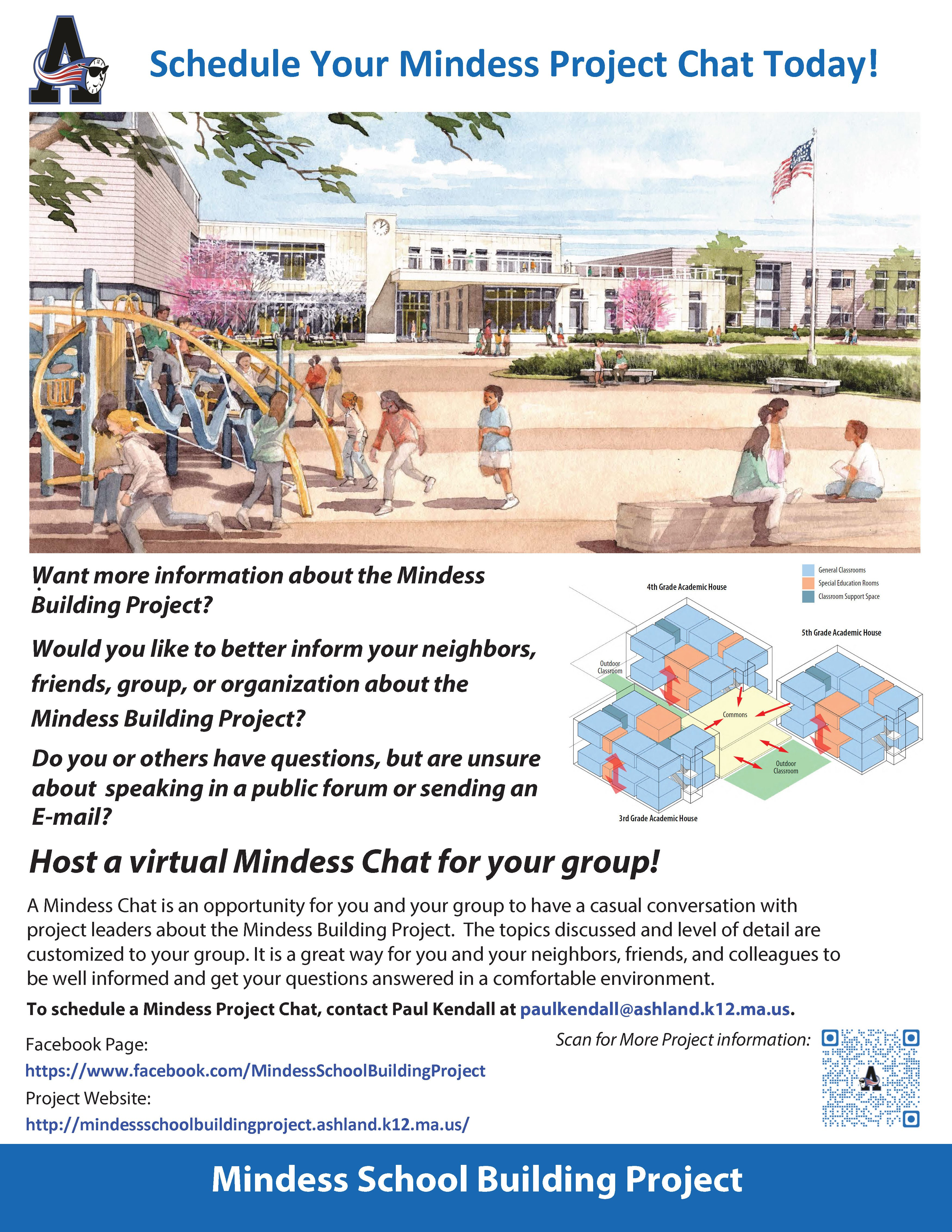 Host a Mindess Chat - Get  Up-to-Date Informatio About the Mindess School Building Project